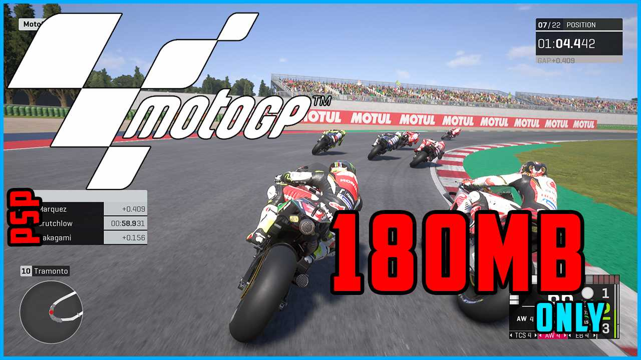MotoGP Game Download In Highly Compressed Size For PSP