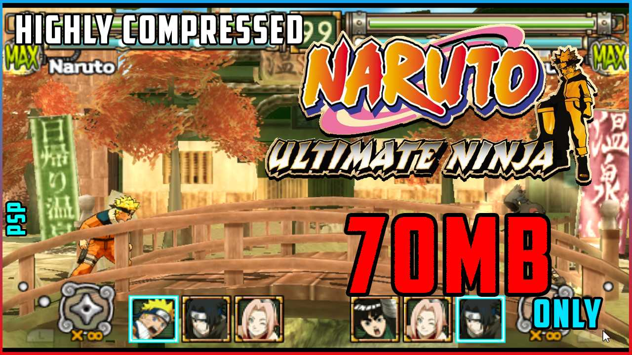 Download Naruto: Ultimate Ninja Heroes In Compressed Size For PSP