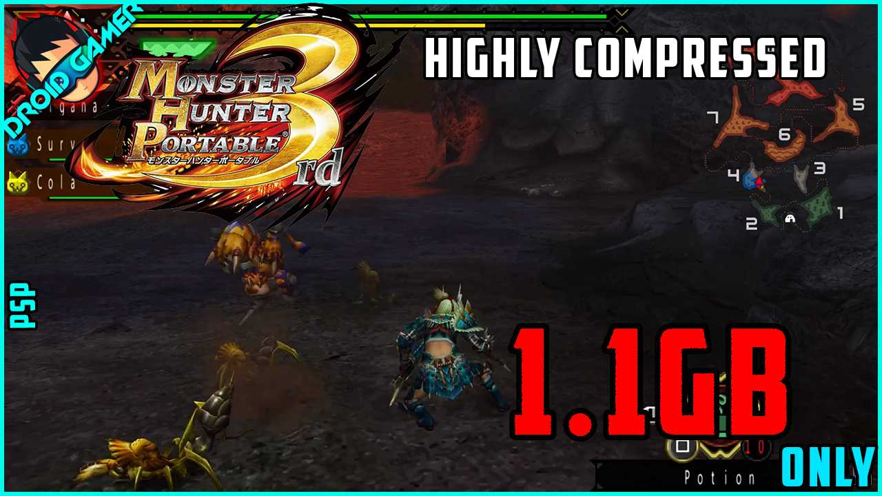 Download Monster Hunter Portable 3rd In Compressed Size For PSP